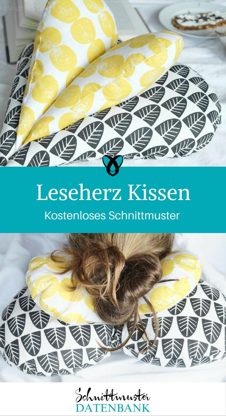 Leseherz Kissen – Schnittmuster Datenbank