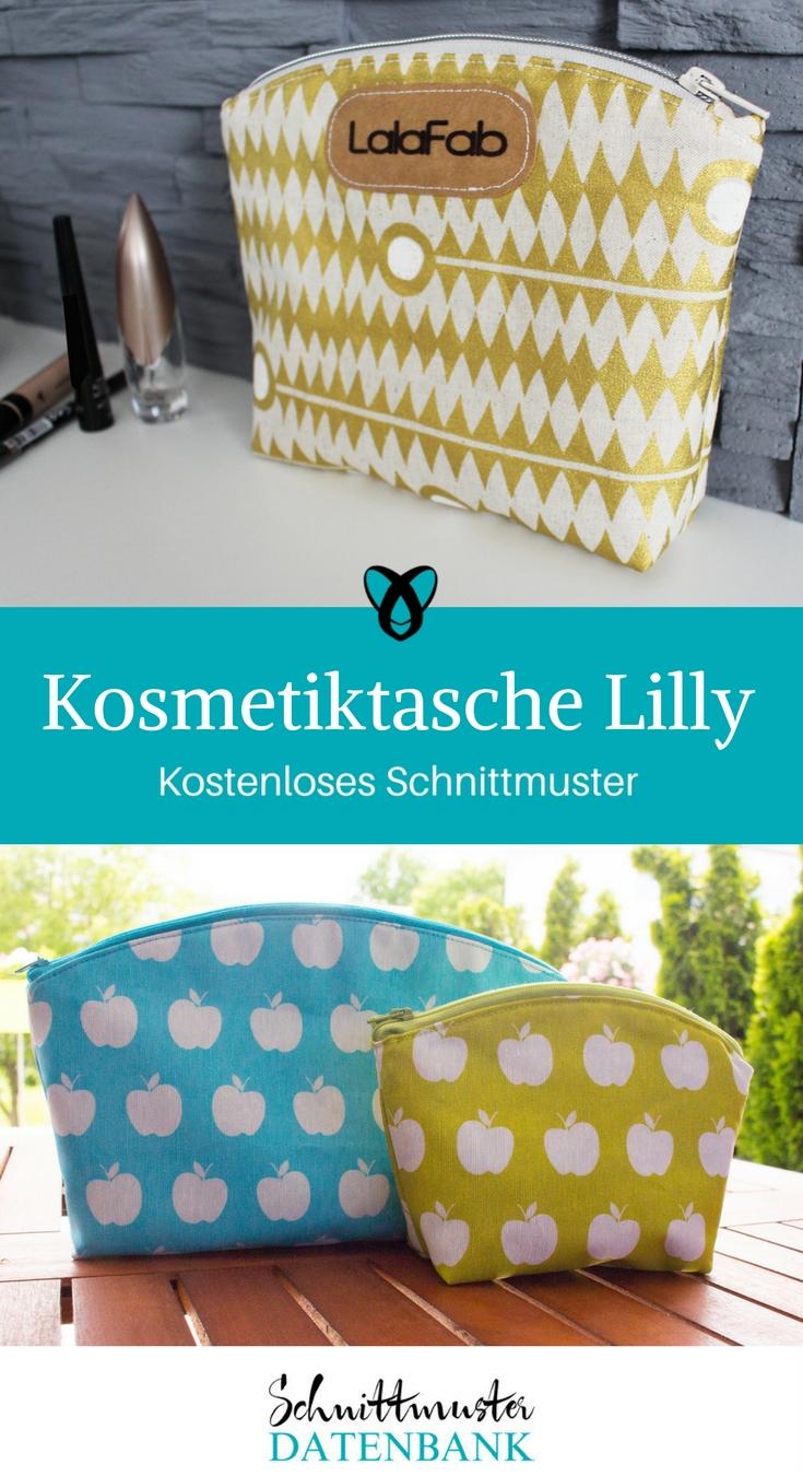 Kosmetiktasche Lilly – Schnittmuster Datenbank