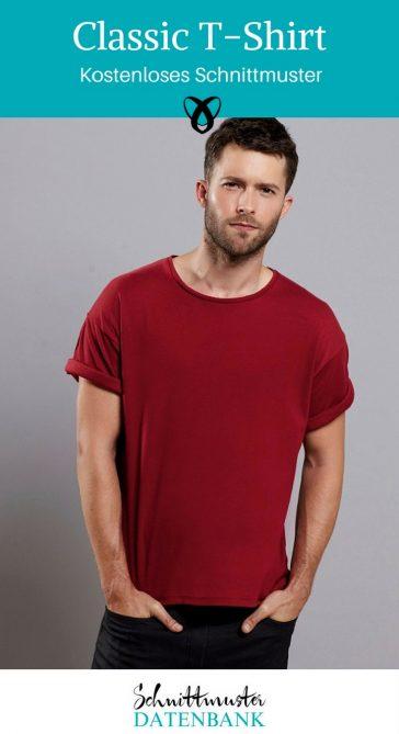 Classic-Shirt Männershirt nähen Shirt Geschenk für Männer Kostenloses Schnittmuster