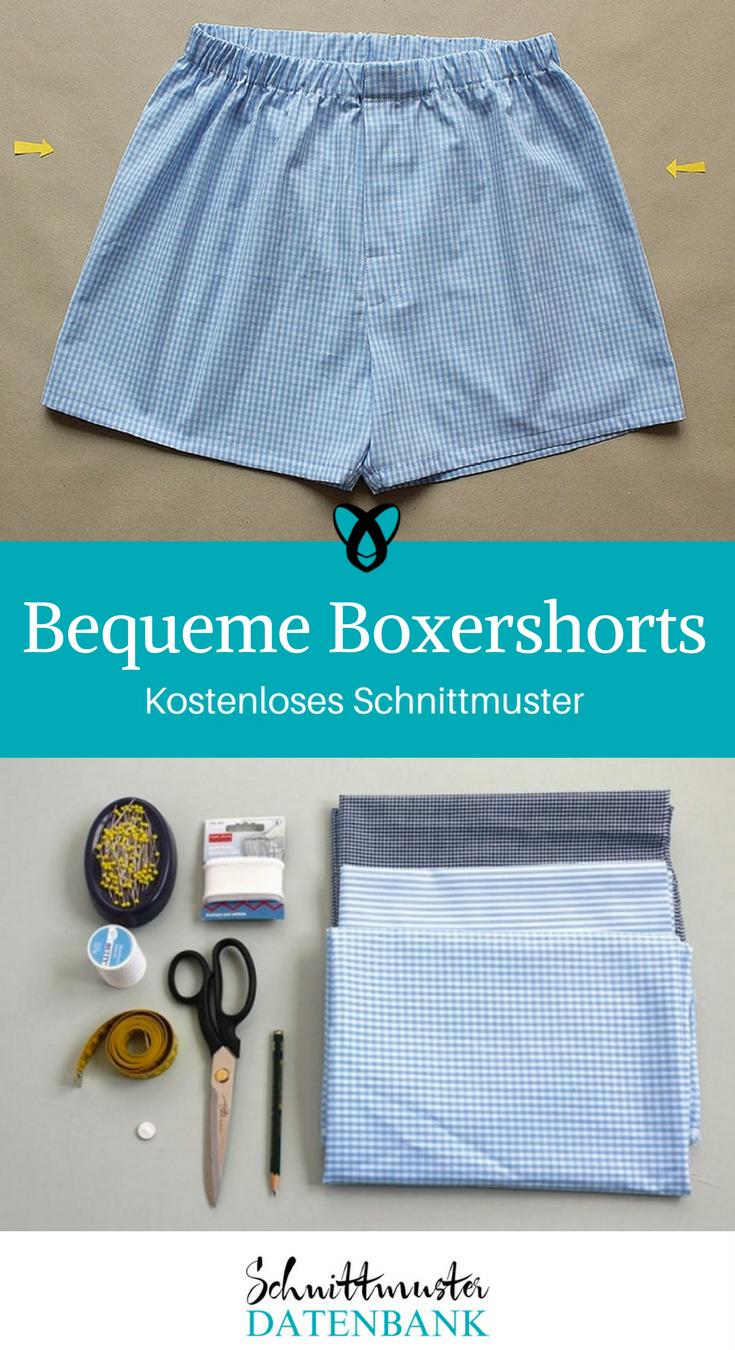 Bequeme Boxershorts – Schnittmuster Datenbank
