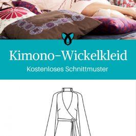 Kimono-Wickelkleid