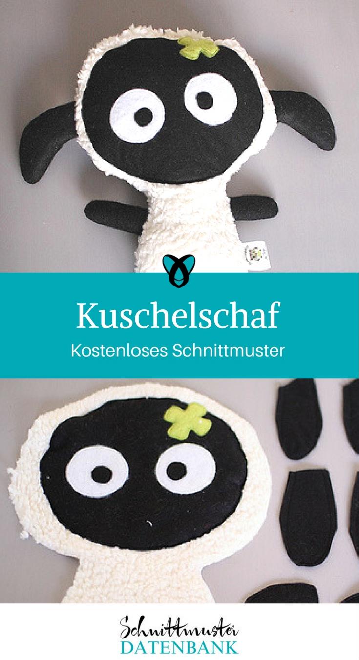 Kuschelschaf nähen kostenloses Schnittmuster Geschenk Baby Kuscheltier Nähanleitung Freebook Freebie gratis geschenkidee geschenk nähidee ideen