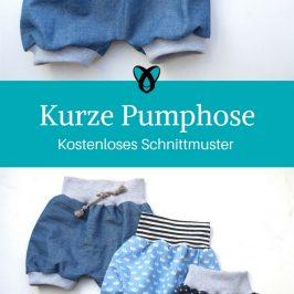 Pumphose nähen Kinderhose Babyhose kostenloses Schnittmuster Foto-Nähanleitung Geschenk Baby Kind
