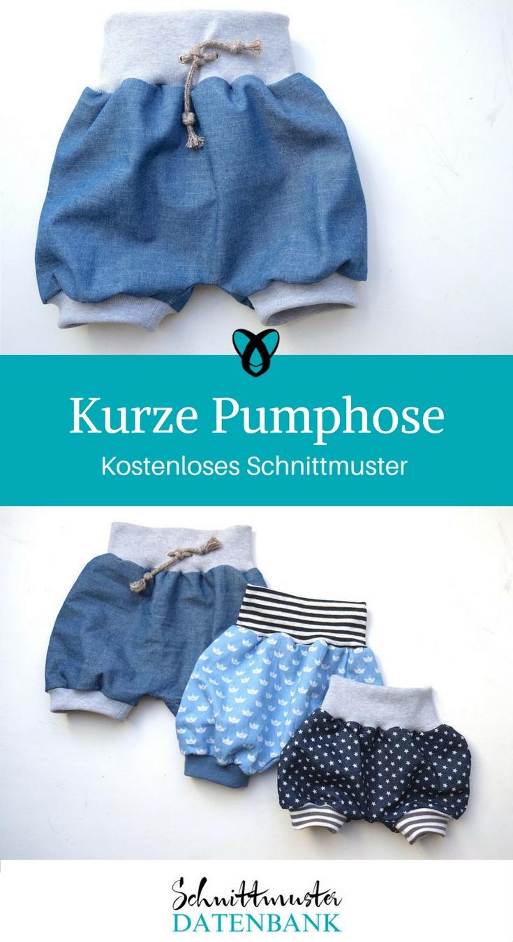 Kurze Pumphose – Schnittmuster Datenbank
