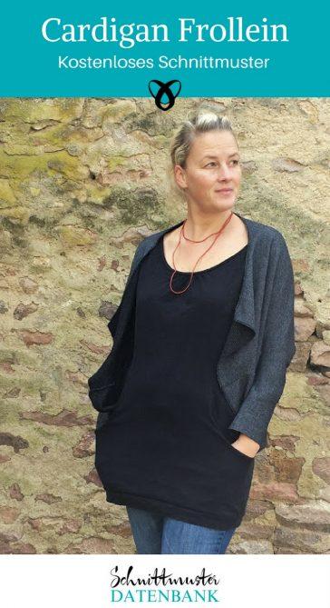 Cardigan Frollein kostenloses Schnittmuster kostenlose Nähanleitung Damenjäckchen nähen