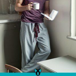 Lässige Pyjamahose