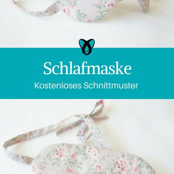schlafmaske geschenkidee für frauen kostenlose schnittmuster kostenlose nähanleitung stoffreste nähen