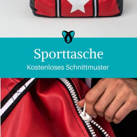 sporttasche reisetasche nähen kostenloses schnittmuster nähanleitung kostenlos große tasche