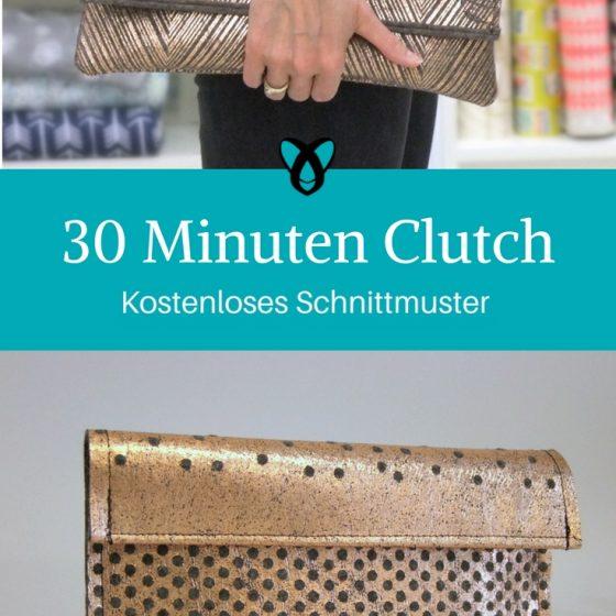 Clutch Tasche kostenloses Schnittmuster schnelle Nähprojekte Abendhandtasche Geschenk für Frauen Ideen für Frauen