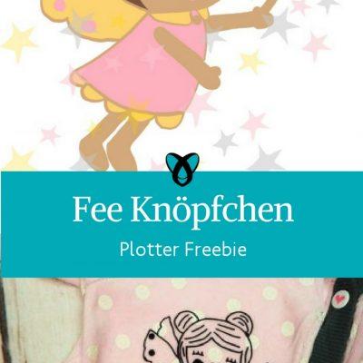 Plottdatei Fee Knöpfchen zum Plotten Datei Fee Elfe Grafik für Mädchen