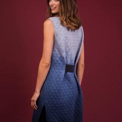 Pullikleid Dip Dye Ombre Look kostenloses Schnittmuster kostenlose Nähanleitung Sweatkleid
