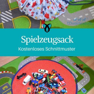 Spielzeugsack Nähen fürs Kinderzimmer Nähen für Kinder kostenlose Schnittmuster Gratis-Nähanleitung