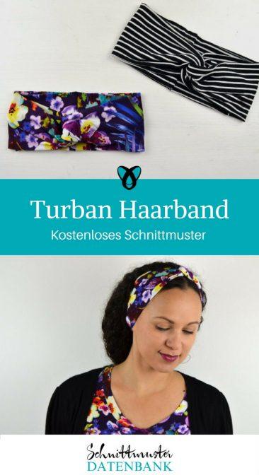 Turban Haarband Accessoire Frauen Kostenloses Schnittmuster kostenlose Nähanleitung Stirnband