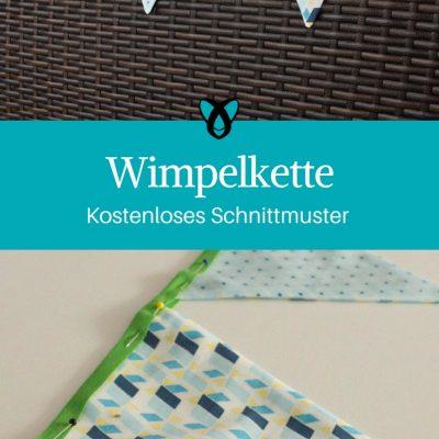 Wimpelkette nähen kostenloses Schnittmuster Dekoration fürs Kinderzimmer nähen kostenlose Nähanleitung