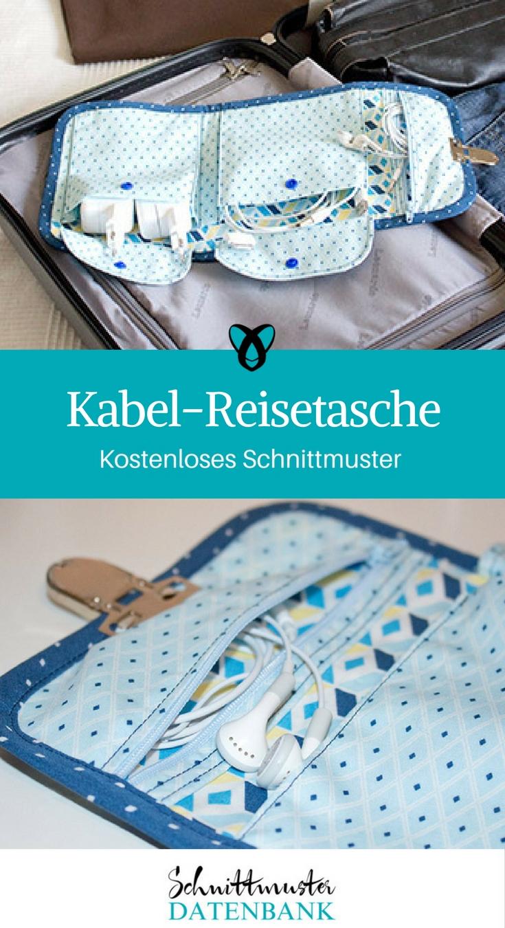 Kabel-Reisetasche – Schnittmuster Datenbank