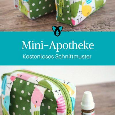 mini-apotheke etui kleine Tasche nähen kostenloses Schnittmuster kostenlose Nähanleitung Reiseapotheke nähen