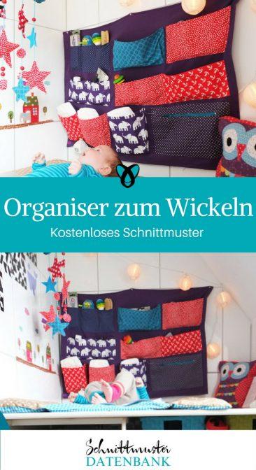 Wickelorganiser Organiser zum Wickeln Wandutensilo Utensilo für die Wand fürs Baby