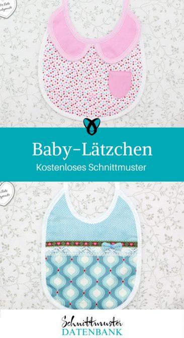 Baby Lätzchen Babylatz kostenloses Schnittmuster kostenlose Nähanleitung Latz