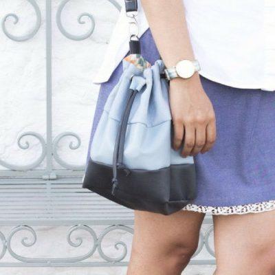 Bucket Bag Handtasche kostenloses Schnittmuster kostenlose Nähanleitung kleine Tasche Schultertasche