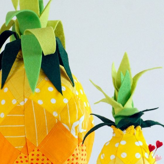 Nadelkissen Ananas nähen Nähideen für Frauen kostenloses Schnittmuster Ananas