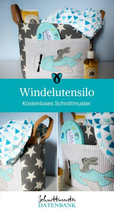 Windelutensilo Utensilo für Windeln kostenloses Schnittmuster Gratis-Nähanleitung