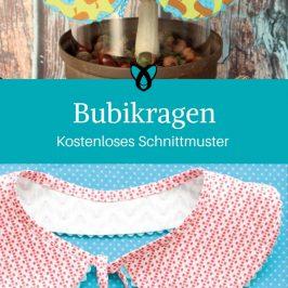Bubikragen kostenloses Schnittmuster kostenlose Nähanleitung Accessoires Geschenkidee Frau