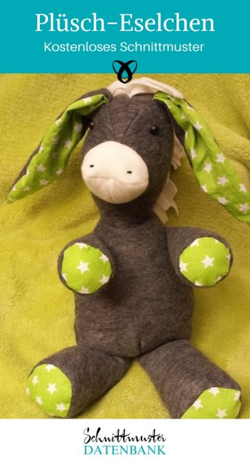 Esel Plueschesel Kuscheltier Sppielzeug Kinder naehen gratis schnittmuster