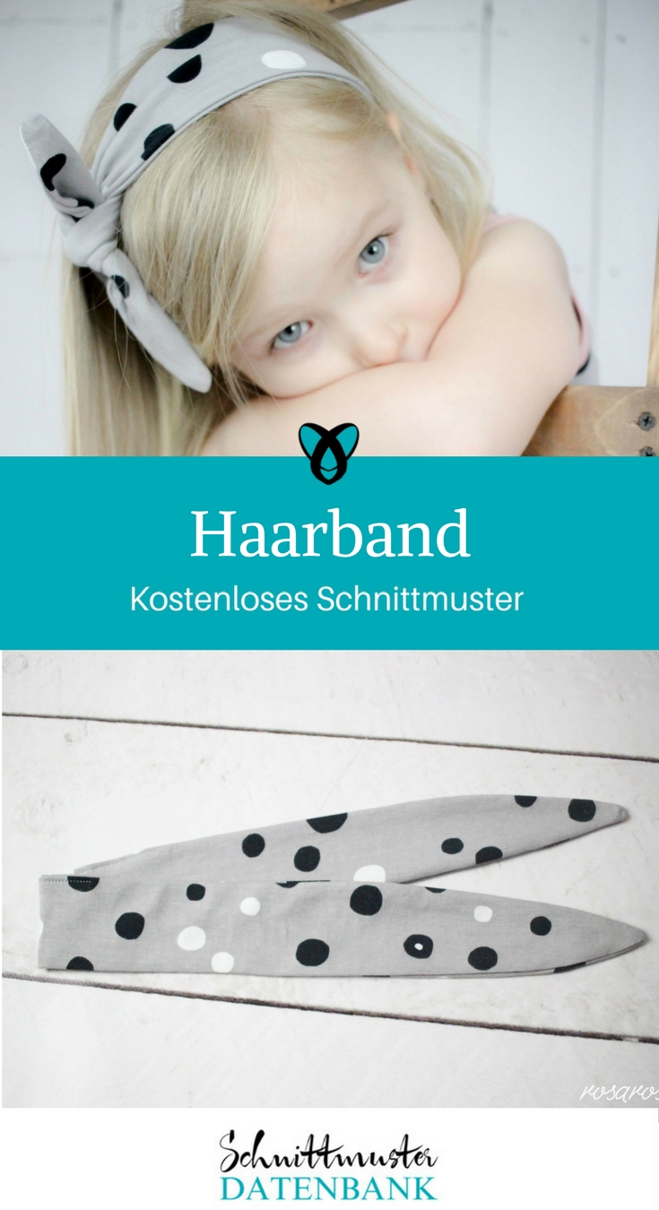 haarband f r m dchen schnittmuster datenbank. Black Bedroom Furniture Sets. Home Design Ideas