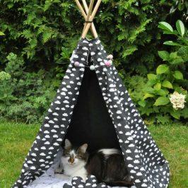 Haustier-Tipi Nähen fürs Haustier Nähen für Katze Nähen für Hund kostenloses Schnittmuster Gratis-Nähanleitung