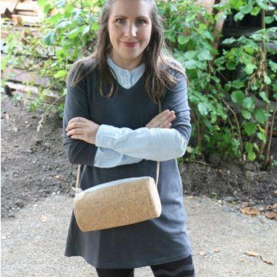 Korktasche Handtasche Tasche aus Kork kostenloses Schnittmuster Gratis-Nähanleitung