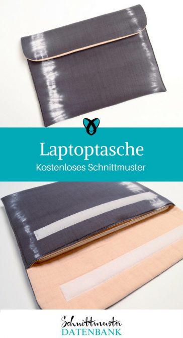Laptoptasche Tasche für Laptop große Clutch kostenlose Schnittmuster Gratis-Nähanleitungen