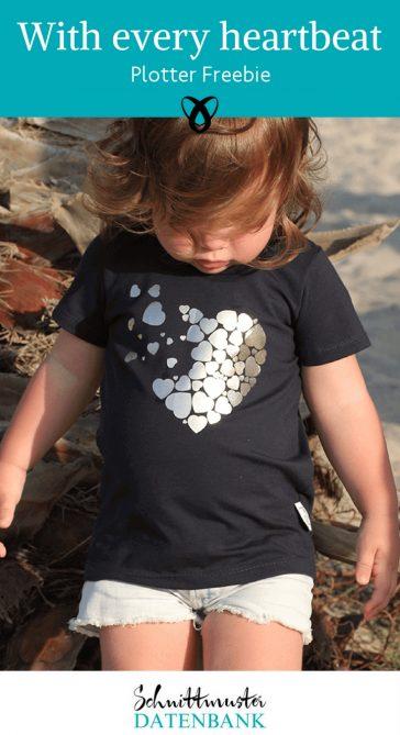 Plottdatei Heartbeat Herzen Plotter Freebie kostenlose Schnittmuster Gratis-Nähanleitungen