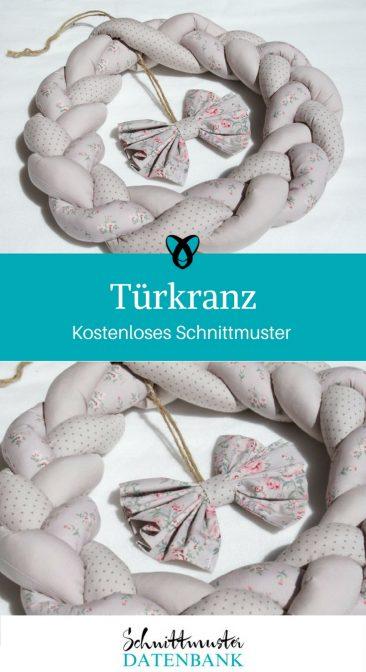 Türkranz Dekoration Homedeko Haustürkranz kostenloses Schnittmuster Gratis-Nähanleitung