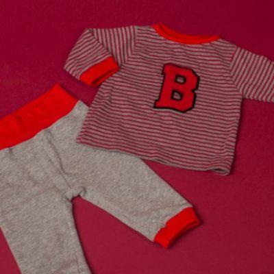 Baby Jogger Jogginganzug Baby Zweiteiler Baby Hose Shirt Baby kostenloses Schnittmuster Gratis-Nähanleitung