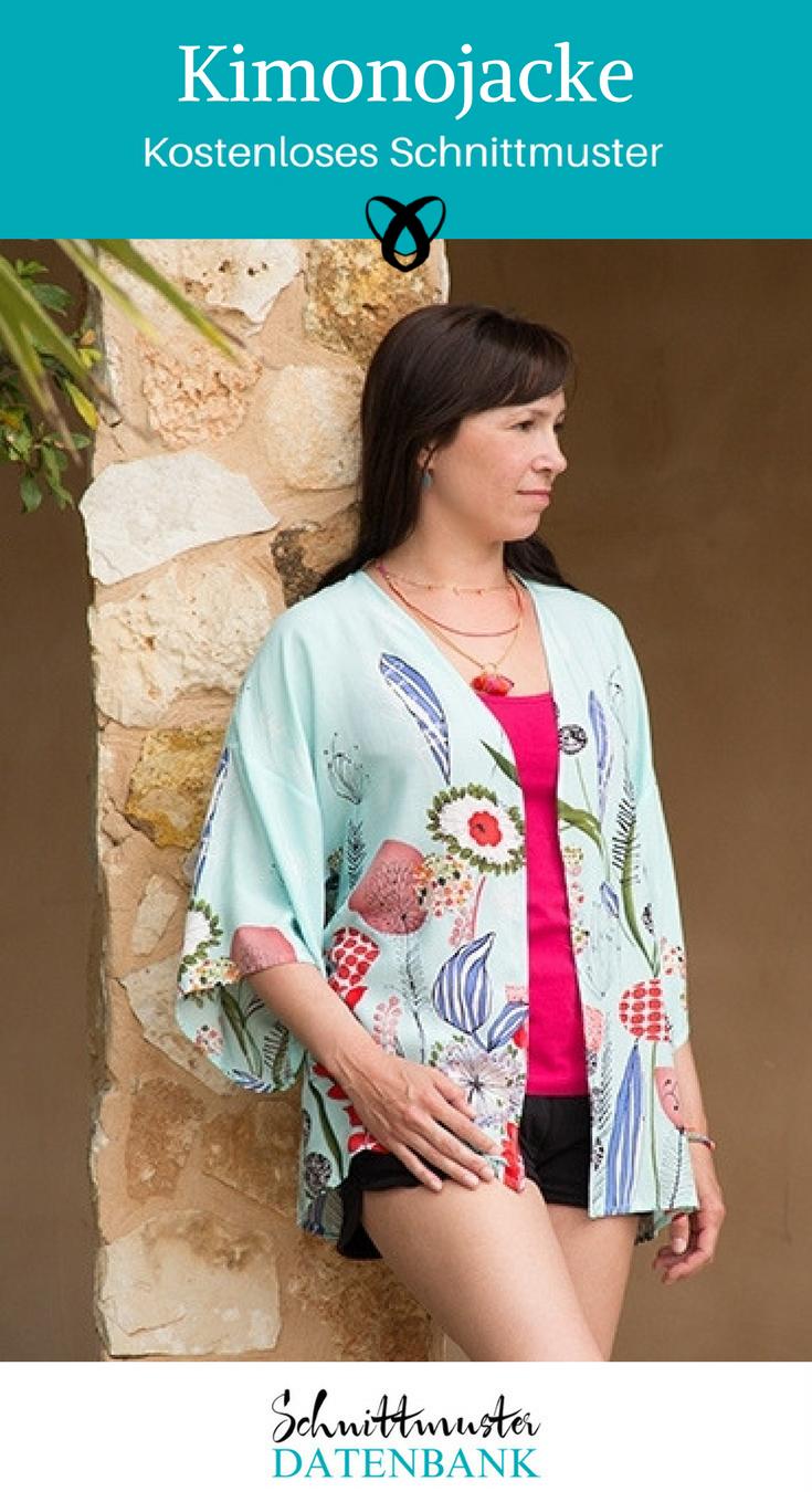 Kimonojacke – Schnittmuster Datenbank