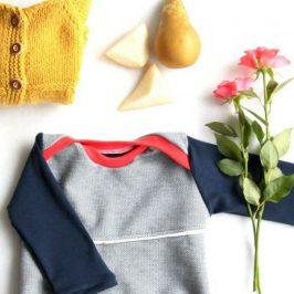 Shirt Morgenstern Babyshirt Kindershirt Schlupfshirt Longsleeve Pullover kostenloses Schnittmuster Gratis-Nähanleitung