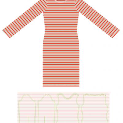 Boatneck Kleid Jerseykleid Kleid für Damen kostenloses Schnittmuster Gratis-Nähanleitung