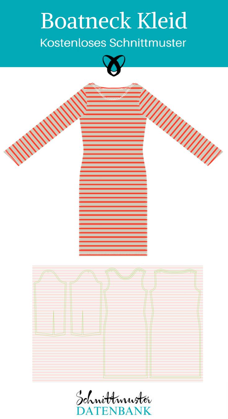 Boatneck Kleid – Schnittmuster Datenbank