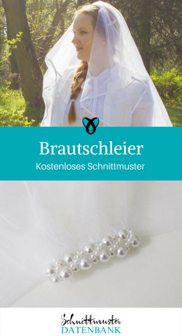 Brautschleier Nähen für die Braut Nähen für die Hochzeit kostenlose Schnittmuster Gratis-Nähanleitung