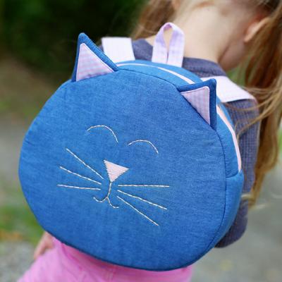 Katzenrucksack Kinderrucksack Kindergartentasche Rucksack für Kinder kostenloses Schnittmuster Gratis-Nähanleitung