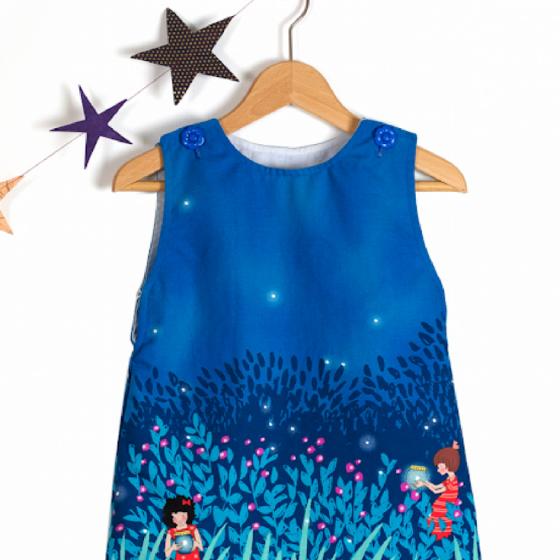 Kinderkleid Kleid für Mädchen Hängerchen kostenloses Schnittmuster Gratis-Nähanleitung