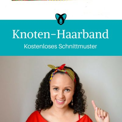 Knotenhaarband Accessoire Ideen für Frauen kostenloses Schnittmuster Gratis-Nähanleitung