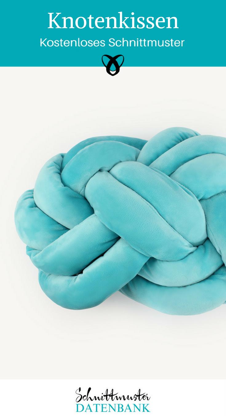 Knotenkissen Kissen dekorative Ideen für Zuhause kostenlose Schnittmuster Gratis-Nähanleitung