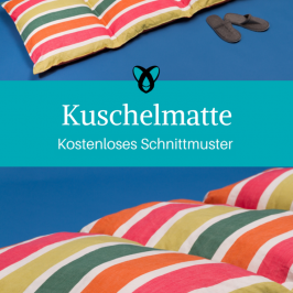 Kuschelmatte Liegematte Liegematratze kostenloses Schnittmuster Gratis-Nähanleitung