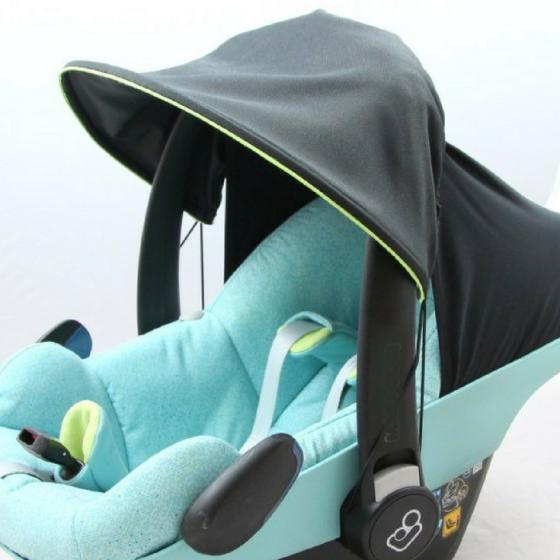 Sonnenschirm Sonnendach für Babyschale oder Kinderwagen kostenloses Schnittmuster Gratis-Nähanleitung
