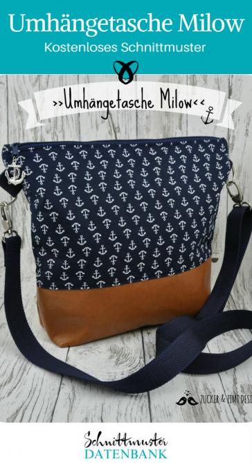 Handtasche kleine Tasche kostenloses Schnittmuster Gratis-Nähanleitung Milow für Anfänger