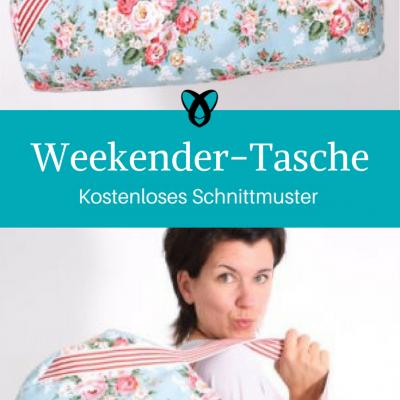 Weekender Reise-Tasche Sporttasche große Tasche kostenloses Schnittmuster Gratis-Nähanleitung