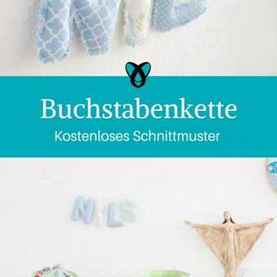 Buchstabenkette Kinderzimmerdekoration Nähideen für Kinder kostenlose Schnittmuster Gratis-Nähanleitung