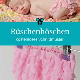 Rüschenhöschen Windelhöschen Nähen für Babies kostenlose Schnittmuster Gratis-Nähanleitung