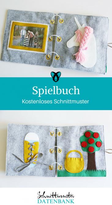 Spielbuch Lernbuch Nähideen für Kinder kostenlose Schnittmuster Gratis-Nähanleitung